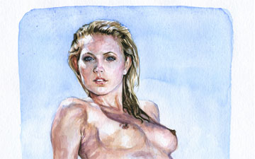 Rene Bui - Watercolor Nude Study 150144